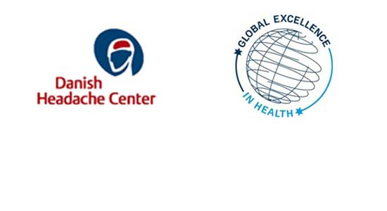Logo for the Danish Headache Center
